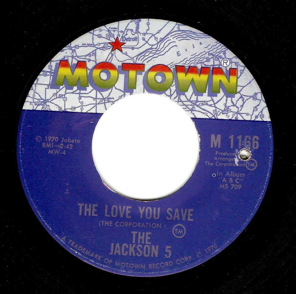 THE JACKSON 5 (FIVE) The Love You Save Vinyl Record 7 Inch US Motown 1970